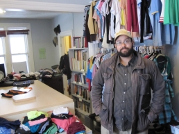Jonathan Rousseo works for the University of Ottawa Office of Campus Sustainability, which runs the Free Store.