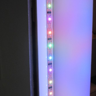 O'Malley's art often uses LEDs, to create shifting canvases of light.